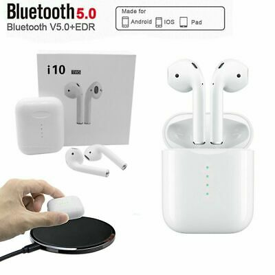 i10 TWS Wireless Earbuds Bluetooth5.0 Mini Earphone Headphone Touch Control 2019