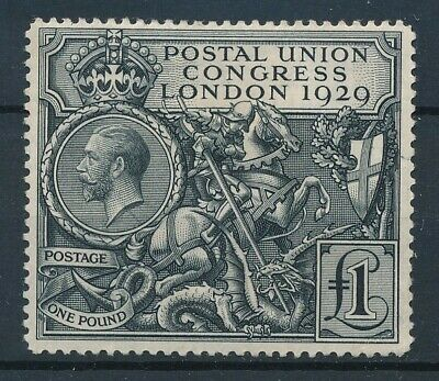 [36274] Great Britain 1929 Good RARE stamp Fine/VF MH folds Value $770