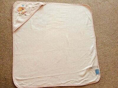 Loony Tunes Pale Pink Hooded Baby Towel REDUCED