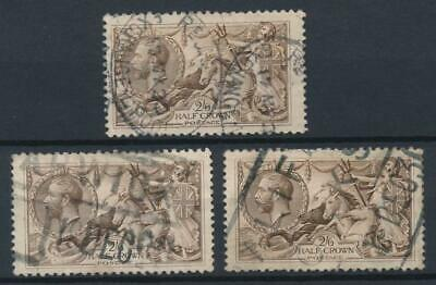 [56196] Great-Britain 1913-18 lot 3 good Used F/VF stamps