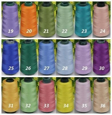Wholesale 3000 Yards Quality Overlocking Sewing Machine Polyester Thread Cones~&