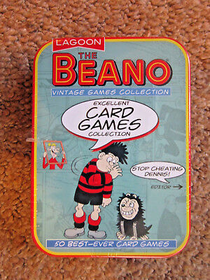 The Beano Tin Gift Pack Playing Cards Vintage Dennis The Menace Funny Deck Game