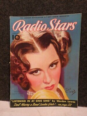 Vintage Feb 1936 Radio Stars Magazine Gladys Swarthout Cover By Earl Christy