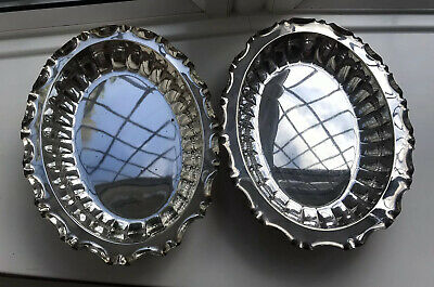 Vintage Pair Silver Plate Serving Dishes Joseph Rodgers Sheffield