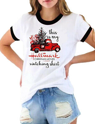 Women This is My Christmas Movie Watching T-Shirt Hallmark Shirt