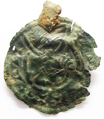 10th - 11th century AD Anglo Saxon Mercian bronze bracteate pendant Offa Penny