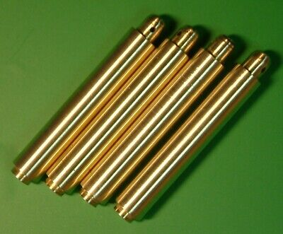 CLOCK PARTS SPARES - MOVEMENT MOUNTING POSTS COLUMNS SPACERS BRASS - LOT OF 4pcs