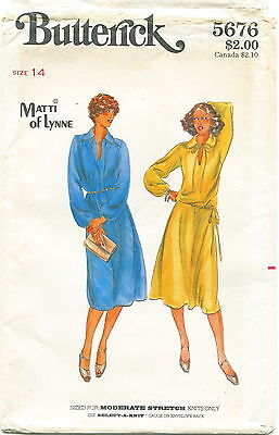 Butterick 5676 Misses Vintage Dress Top Skirt Sewing Pattern Size 14 Uncut