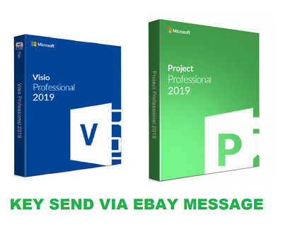 MS Microsoft Project 2019 Professional and MS Visio 2019 Pro FOR 1 PC GENUINE