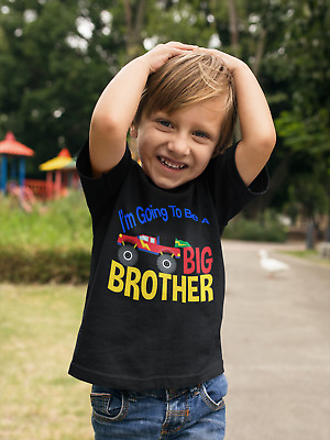 4X4 Big Brother Shirt - Monster Truck Tee- I'm The Big Brother announcement