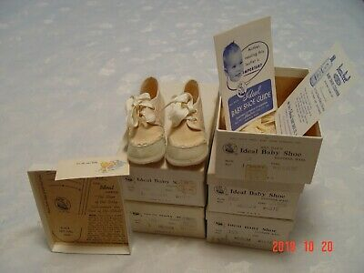 5 pairs 1950s Mrs. Day's IDEAL BABY SHOES w/ORIGINAL BOXES