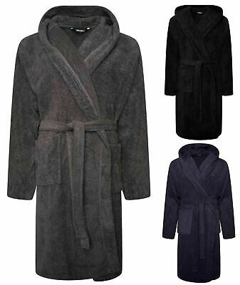 Men's Luxury Bath Robes 100% Egyptian Cotton 650GSm Dressing Gown Terry Toweling
