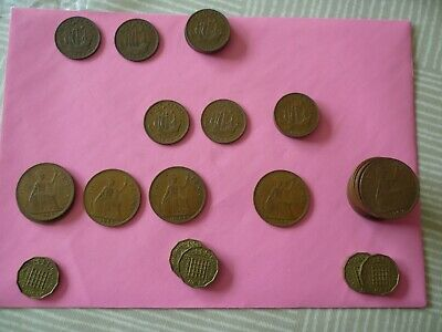 BRITISH COIN COLLECTION PRE-DECIMAL COINS OF THE UK  1d 1/2d 3d