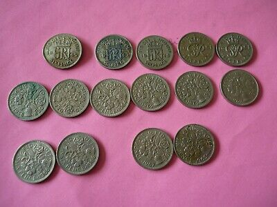 BRITISH COIN COLLECTION PRE-DECIMAL COINS OF THE UK  6d