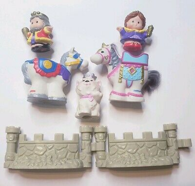 Fisher Price Little People Castle Lot- King, Queen Horses, Princess kitty