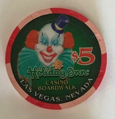 Holiday Inn Boardwalk Las Vegas Nevada $5 Casino Chip Clown