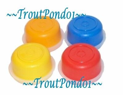 New Tupperware Smidgets Mini Bowls Set 4 Containers Yellow Orange Red Blue