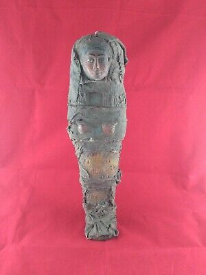Ancient Egyptian Ushabti of God Isis with linen grave clothes (2686–2181BC)