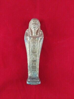 Ancient Egyptian Antiques golden Ushabti  (2600 - 2100 BC)