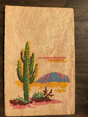 Vintage 1940's Postcard Made of Real Yucca Tree Wood!