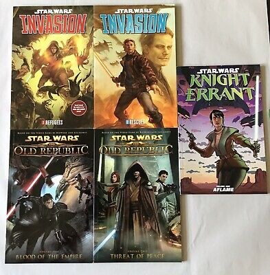 Star Wars Invasion, Old Republic, Knight Errant Graphic Novel Lot Of 5