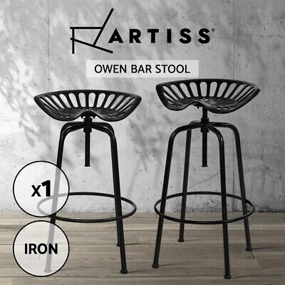【20%OFF】Kitchen Bar Stools Tractor Bar Stool Chairs Vintage Swivel Metal Black