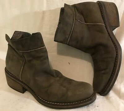 Vic Dark Grey Ankle Leather Lovely Boots Size 40 (649vv)
