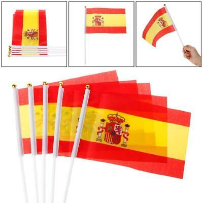 Spain with Crest Bunting 9mtr 30ft Long with 30 Cloth Fabric Flags