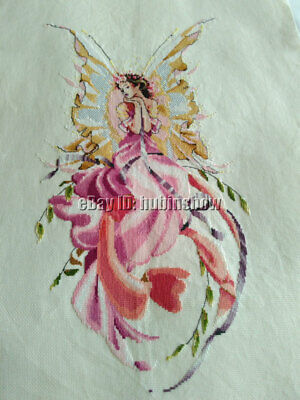 Handmade New Finished Completed Cross Stitch - Butterfly Pretty woman - P70a