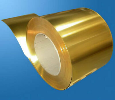 1 Piece Brass Metal Thin Sheet Foil 0.08 x 200 x 500mm (8 inches x 20 inches)