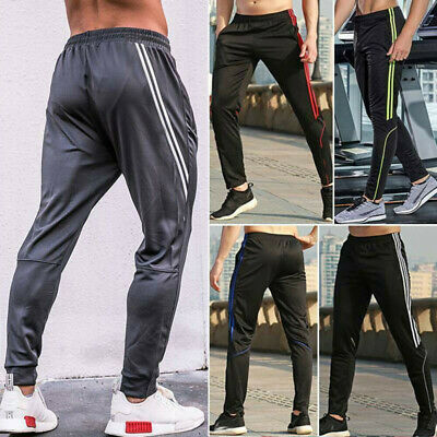 Men's Sports Pants Zipper Pockets Sweatpants Running Jogger Fitness Training X87