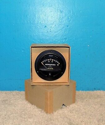 "NOS Gruen Watch Co. DC Microamperes Panel Meter 0-150 2 3/4"" 15 Avail Free Ship"