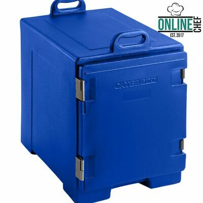 """16 3/4"""" x 24"""" x 25"""" Blue Front Loading Insulated Food Pan Carrier Restaurant Bar"""