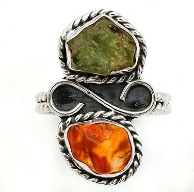 Wonderful Art Carnelian 925 Solid Sterling Silver Ring Jewelry Sz 6.5, C28-2