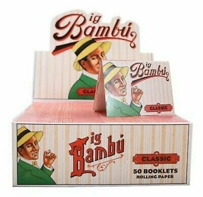 50 Booklets Big Bambu Classic  Cigarette Rolling Papers
