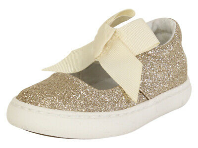 Polo Ralph Lauren Toddler Girl's Braylon Gold Glitter Mary Janes Sneakers Shoes