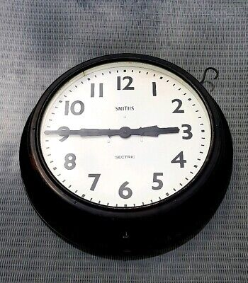 Very Large 24 Inch Dia Vintage Smiths  Double Faced Factory Station Clock Works