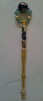 Hand Painted Light Wooden Lace Making Bobbin