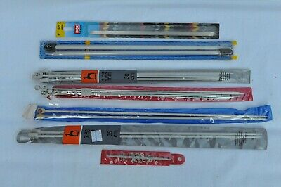 Knitting Needles - Assorted Sizes With Retro 1950's Bag