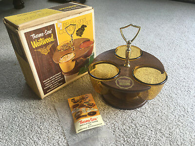 THERMO-SERVE Westwood Relish & Condiment Set VINAGE 1960s RETRO NEW in BOX