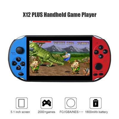 X12PLUS Handheld Game Console 8GB Built-in 2000 Games for PSP Game Player