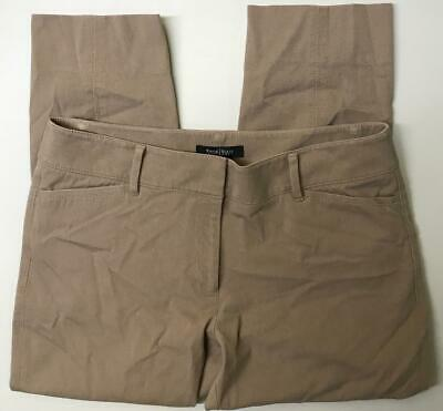 White House Black Market Women's Size 8 Crop Pants Beige Comfort Stretch Casual