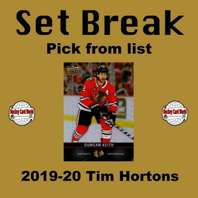 (HCW) 2019-20 Tim Hortons NHL Hockey Cards Mint Set Break 1-120 - You Pick