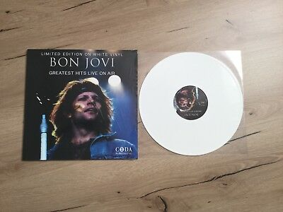 "TOP BON JOVI GREATEST HITS LIMITED EDITION 12 "" LP WEIßE VINYL SCHALLPLATTE"
