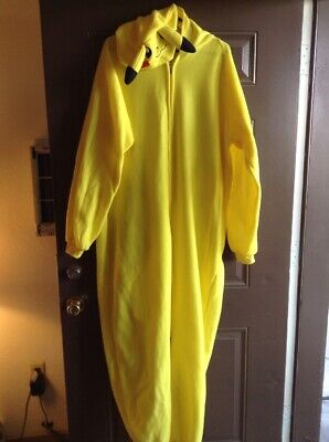 Licensed Rubies One Piece Pokemon Pikachu Costume Hoodie Adult Large