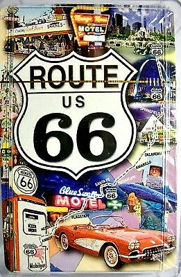 Historic Route 66 With Multi Pictures Playing Cards