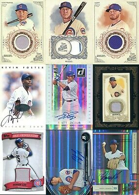 CHICAGO CUBS Lot of 9 JERSEY AUTO Autograph ~ Anthony Rizzo ~ Willson Contreras