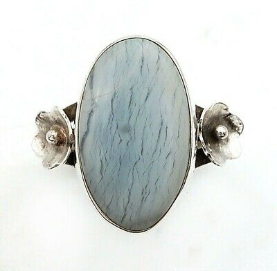 Wonderful Art Owyhee Opal 925 Solid Sterling Silver Ring Jewelry Sz 7.5 C19-2