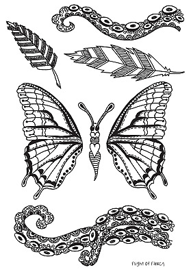 Ranger DYB65401 Dyan Reaveleys Dylusions Clear Stamps 4X8-Whatever