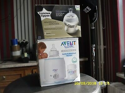 AVENT: Chauffe biberon AVENT- Naturally Express Bottle + 2 Babyfood Warmer neufs